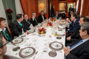 Interpretación consecutiva en la comida oficial entre las directivas de Real Madrid y Ludgorets, previa al partido de Champions League. Madrid 2014